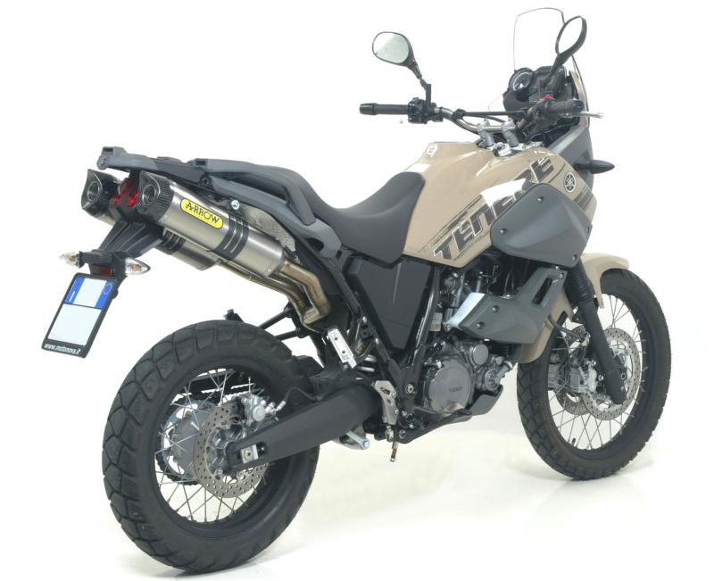 arrow titanium silencers yamaha xt660z tenere 2008 16. Black Bedroom Furniture Sets. Home Design Ideas