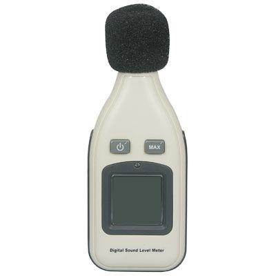 Digital Sound Level Meter with LCD display, Measuring range: 30dBA~130dBA