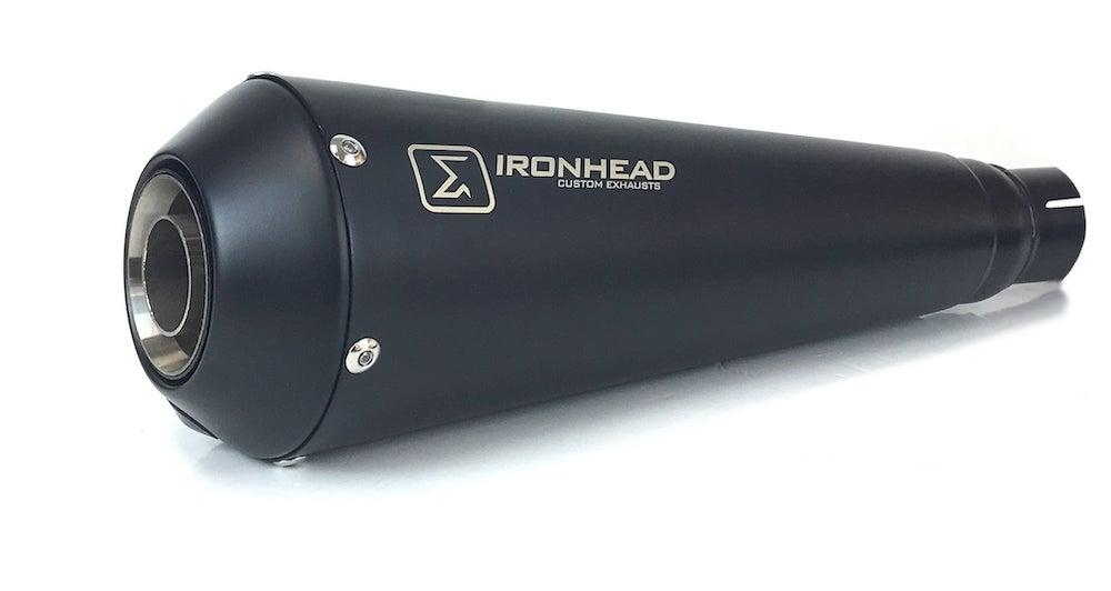 Ironhead OVC11 Conical Black Silencers - Triumph Speed Twin 1200 2019-20