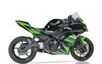 IXIL X55 Black Slash Cut Full System - KAWASAKI Z650 2017 -19