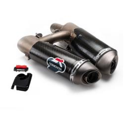 DP 2 into 2 Carbon Silencer Kit Hypermotard 2008-09