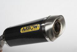 Arrow Decat + Road Carbon cans YAMAHA YZF-R1 2007-08