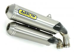 Arrow Decat + Thunder Titanium cans KAWASAKI ZX-10R 2006-07