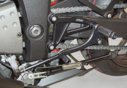Valter Moto Black Fixed Rearsets Triumph Speed Triple 2007-10