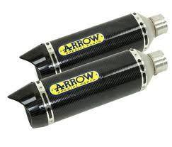 Arrow Road ALL Carbon Fibre Cans + Decat Suzuki GSXR1000 2007-08