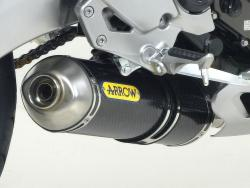 Arrow System Road Carbon Can Kawasaki Versys 650 2006-14