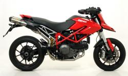 Arrow Thunder 1:2 Underseat Silencers -  DUCATI HYPERMOTARD 796 2010-12