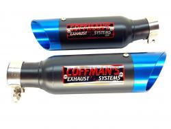 Coffman Pair of Shorty Silencers SUZUKI GSXR 1300 HAYABUSA 1999-07