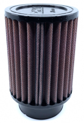 DNA ROUND RUBBER TOP AIR FILTER - 155mm Long / Clamp on 54mm