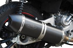 G+G Black Stainless Steel Silencer GILERA FUOCO 400/500 2007-12