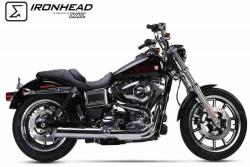 IRONHEAD HC1-2C Chrome Silencer - Harley Davidson Dyna Low Rider 2014-16