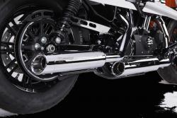 IRONHEAD HC1-3C Chrome Silencers - BMW R NINE T 2017