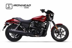 IRONHEAD HC2-1B Black Silencer Harley Davidson Touring Road King - 2006-17