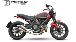IRONHEAD INOX Twin Conical Silencer - DUCATI SCRAMBLER 2015-17