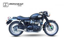 IRONHEAD OVC11 Conical Pair of Silencers - TRIUMPH BONNEVILLE T100 2007-15