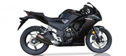 IXIL Black Hyperlow XL Silencer - HONDA CBR300R 2014-17