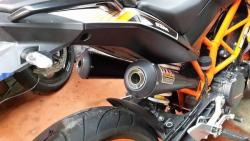 IXIL Dual Black Underseat Slip on Silencers - KTM Duke 390 2013-16