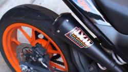 IXIL Dual Black Underseat Slip on Silencers - KTM Duke 125 / 200 2011-16