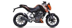 IXIL X55 Slash Cut Cone Black Silencer KTM Duke 125 - 2017-18