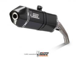 MiVV Speed Edge Black Silencer HONDA VFR1200X CROSSTOURER 2012-16