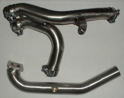 ST Decat pipe DUCATI Monster S4R 1000 2007-08