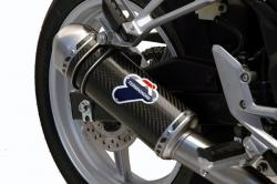 Termignoni Carbon Silencer Steel End Cap HONDA CBR250R 2011-14