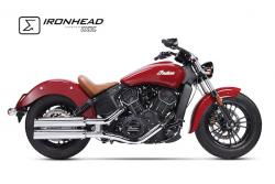 IRONHEAD HC1-2C Dual Silencers - INDIAN SCOUT 2015-16