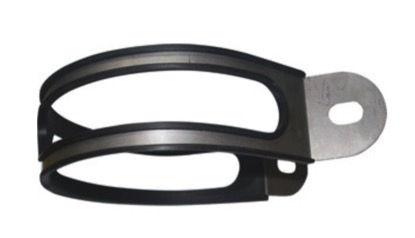 MiVV Oval Silencer S/S 355mm Mounting Strap and Rubber Insulator