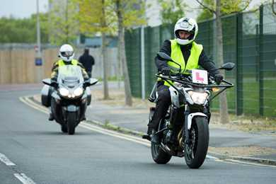 The change to category A motorcycle bike tests