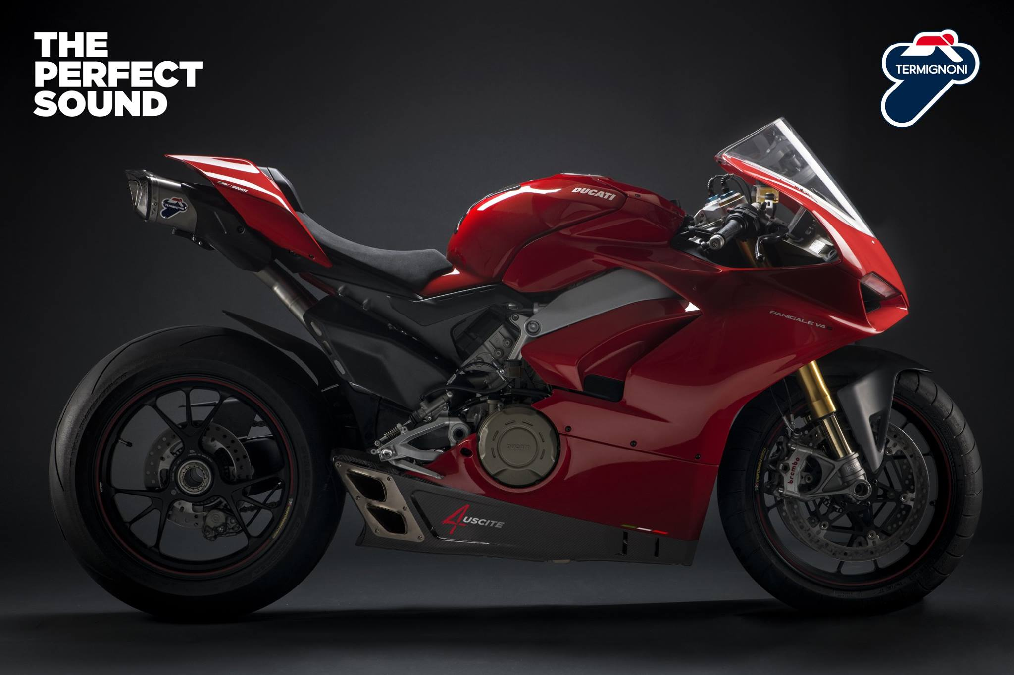 The Ducati Panigale V4 looks good wearing Termignoni