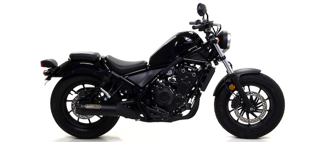 arrow rebel dark silencer honda cmx500 rebel. Black Bedroom Furniture Sets. Home Design Ideas
