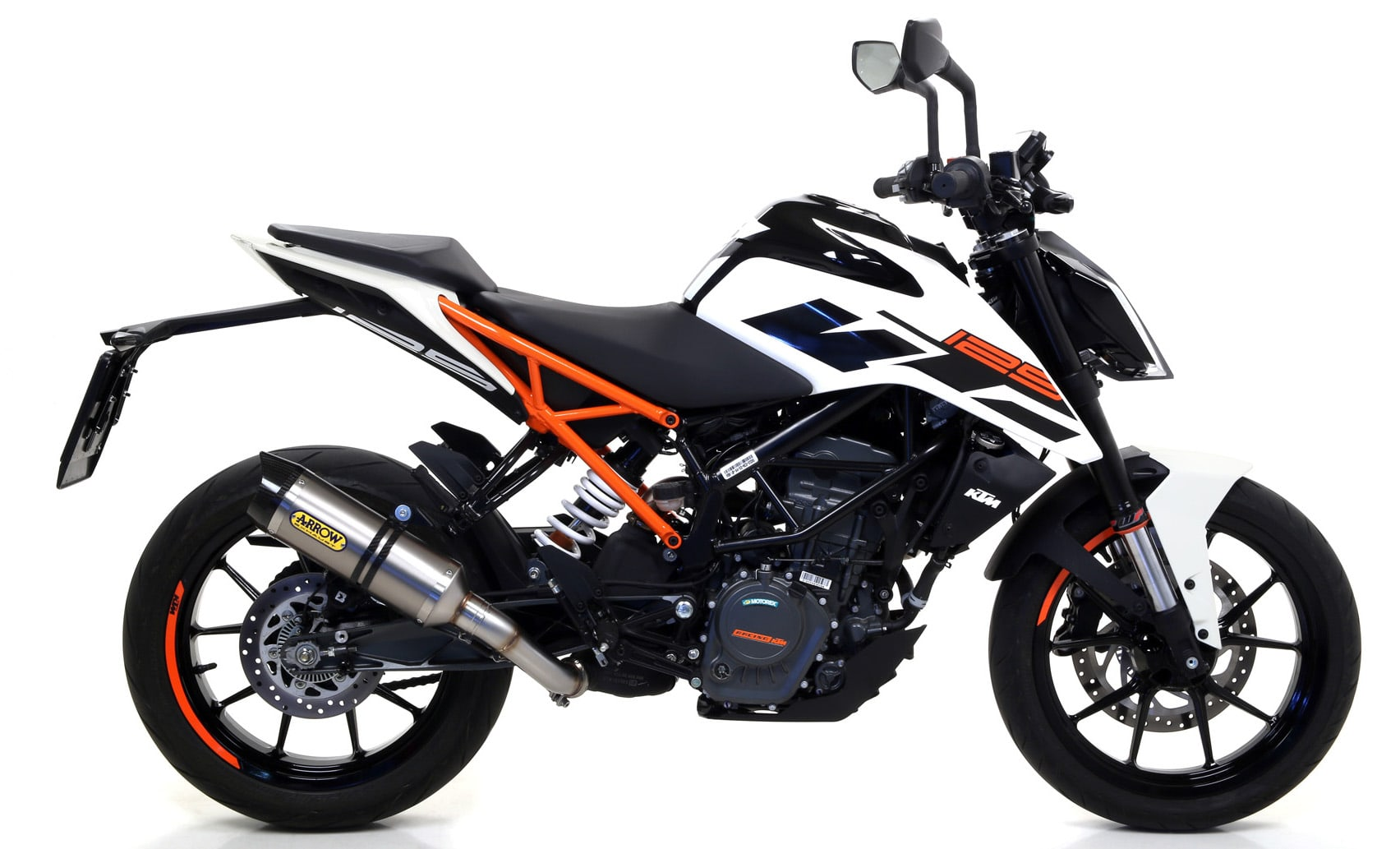 arrow thunder silencer ktm duke 125 2017 19. Black Bedroom Furniture Sets. Home Design Ideas