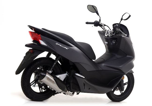 arrow urban full exhaust system honda pcx125 2012 17. Black Bedroom Furniture Sets. Home Design Ideas