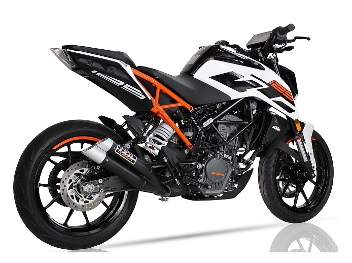 ixil hyperlow xl black dual exit silencer ktm duke 125. Black Bedroom Furniture Sets. Home Design Ideas