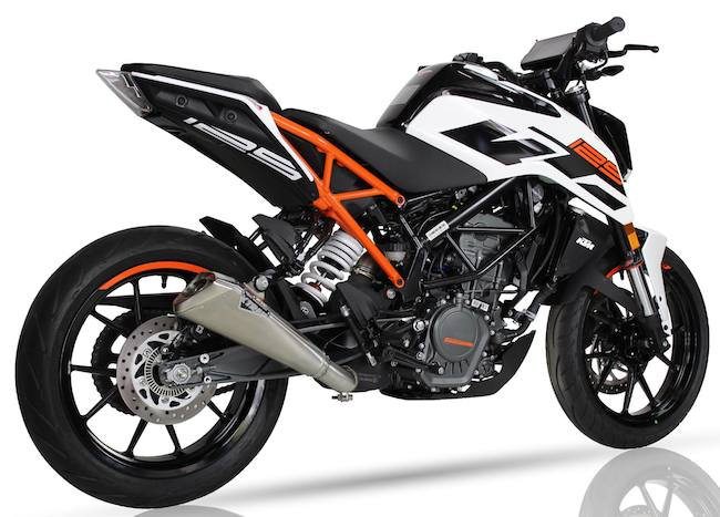 ixil x55 slash cut cone inox silencer ktm duke 125. Black Bedroom Furniture Sets. Home Design Ideas