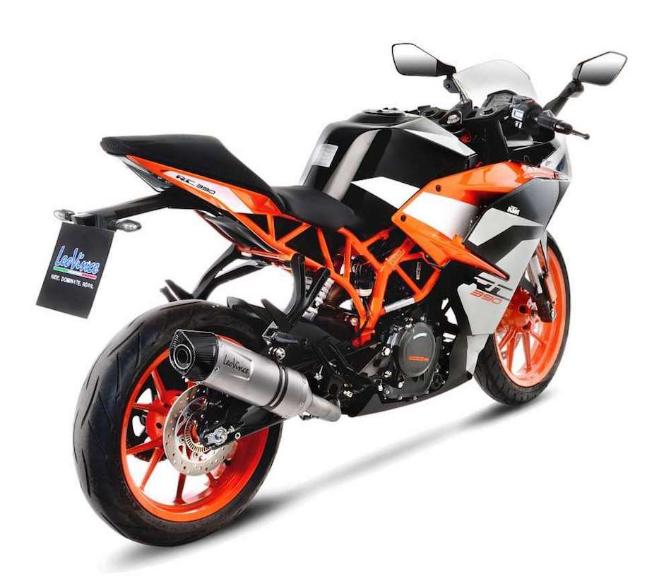 leovince lv one evo silencer ktm rc 390. Black Bedroom Furniture Sets. Home Design Ideas